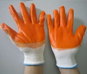 Găng tay sợi dệt kim phủ cao su