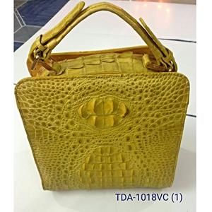 Túi xách nữ da cá sấu - màu vàng chanh