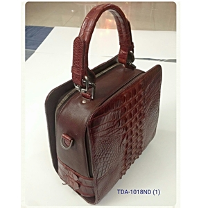 Túi xách nữ da cá sấu - màu nâu đỏ