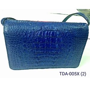 Túi xách nữ da cá sấu - màu xanh