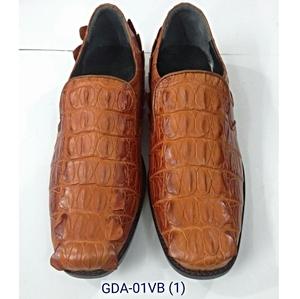 Giày tây nam da cá sấu -không cột dây, vàng bò