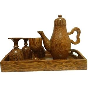 Bộ bình trà và 4 ly kiểu hiện đại