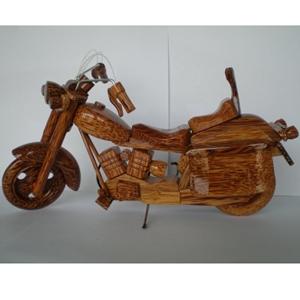 Mô hình xe mô tô bằng gỗ dừa