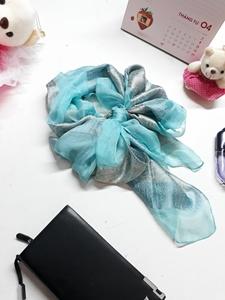 Khăn Tơ Lụa Cao Cấp Thái Lan - Thời trang 2018 (màu xanh)
