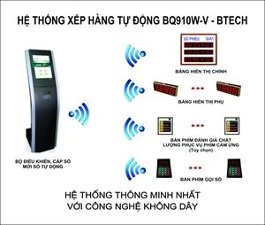 Hệ thống xếp hàng tự động Btech BQ910W-V (Không dây)